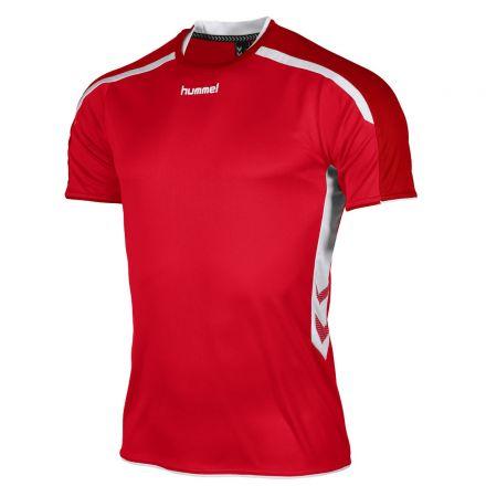 HUMMEL Preston Shirt SS Rood/Wit