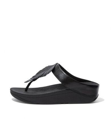 FITLFOP Fino Feather Toe-Post Zwart