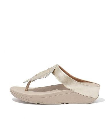 FITFLOP Fino Feather Toe-Post Goud