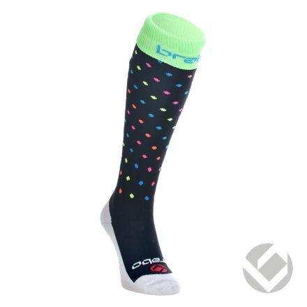 BRABO Socks Dots Black/Neon