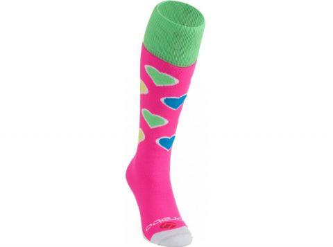 BRABO Socks Hearts Pink/Lime