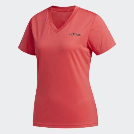 ADIDAS D2M Solid T-Shirt Roze Dames
