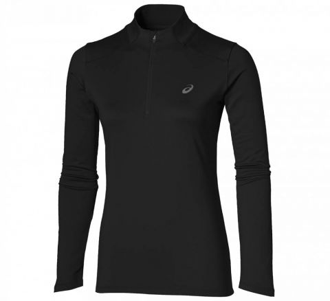 ASICS 1/4 Zip Top Zwart Dames