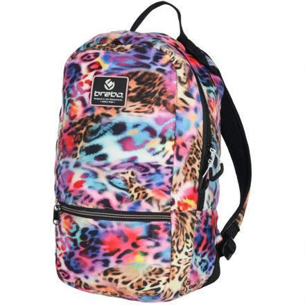 BRABO Backpack Leopard Rainbow