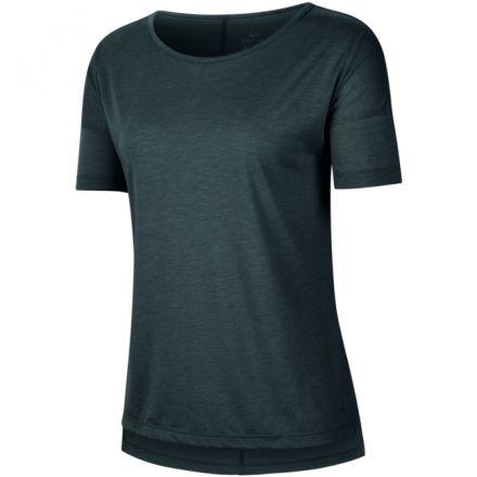 NIKE Yoga Short Sleeve Shirt Dames