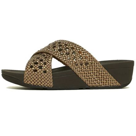 FITFLOP Lulu Wicker Slide Bronze