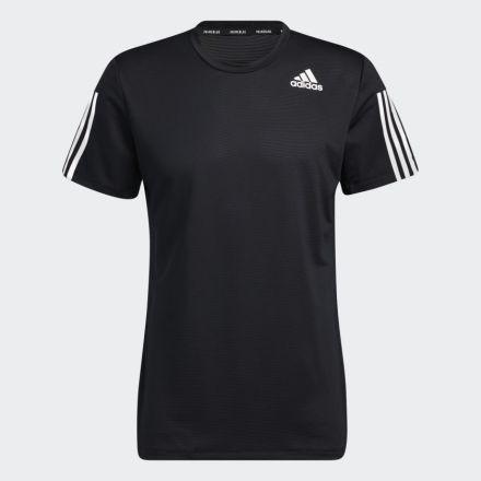ADIDAS Aero 3S T-Shirt Zwart