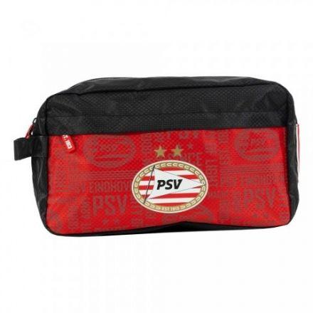 PSV Toilettas All-Over Zwart/Rood