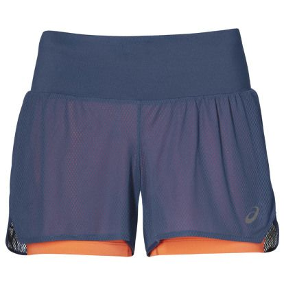 ASICS Cool 2in1 Short Blauw/Roze