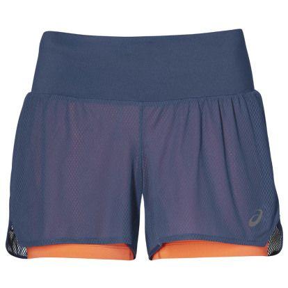 ASICS Cool 2in1 Short Blauw/Roze