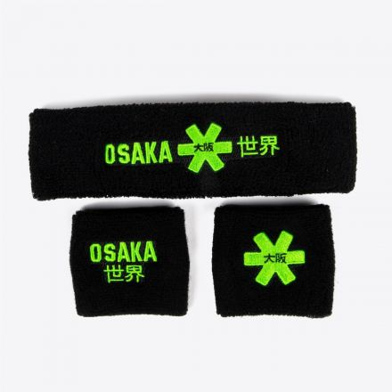 OSAKA Sweatband Set 2.0 Zwart
