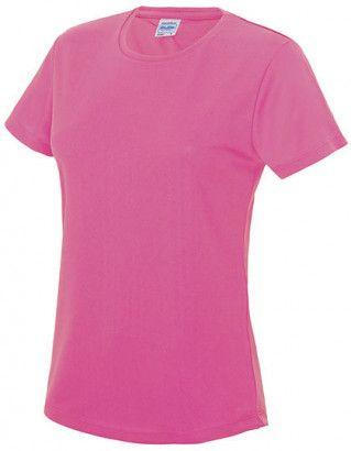 Sportshirt Fluor Roze Dames