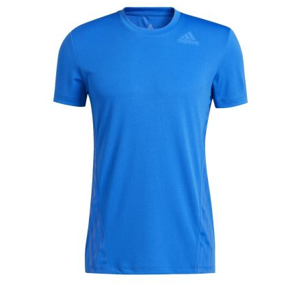 ADIDAS Aero 3S Tee Men's Blauw