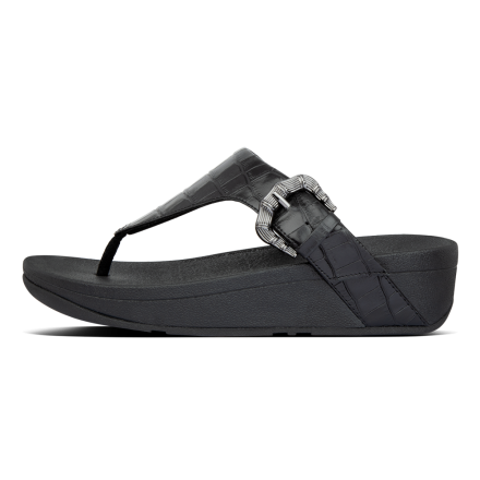 FITFLOP Lottie Slipper Leather Black