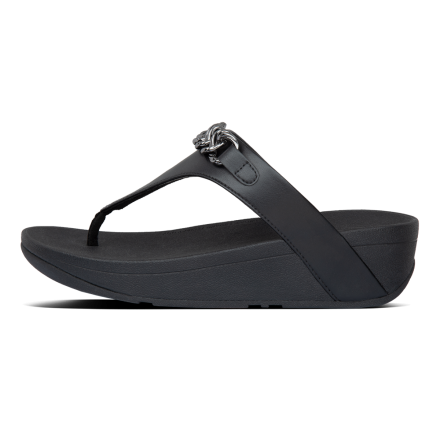 FITFLOP Lottie Chain Slipper Black