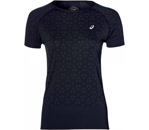 ASICS Texture T-Shirt Dames Zwart