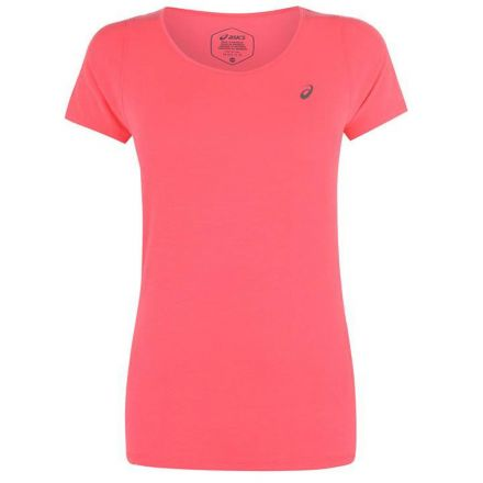 ASICS V-Neck T-Shirt Roze Dames