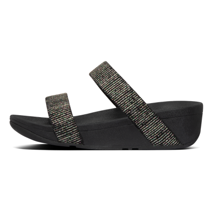FITFLOP Lottie Stripe Slide Black