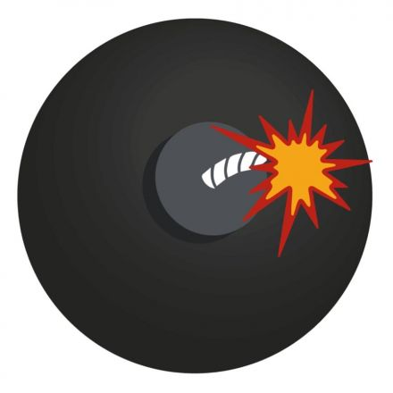BRABO Emojies Hockeybal Zwart