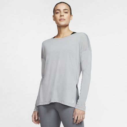 NIKE Yoga LS Shirt Dames Grijs