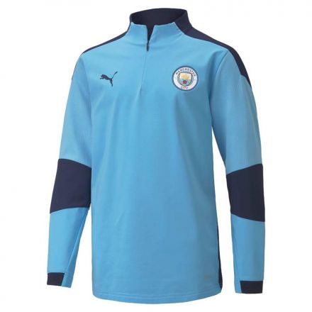 PUMA Man City 1/4 Zip Top Blauw Jr.