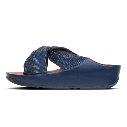 FITFLOP Twiss Crystal Slide Navy