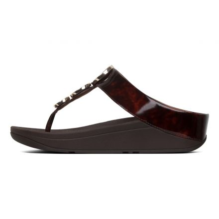 FITFLOP Halo T-Shell Toe Post Brown
