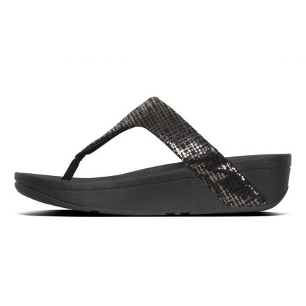 FITFLOP Lottie Chain Print TP Black