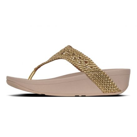 FITFLOP Lottie Wicker TP Goud