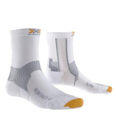 X-SOCKS Run Fast Socks Wit/Oranje