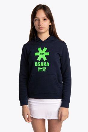 OSAKA Deshi Hoodie Green Star Navy